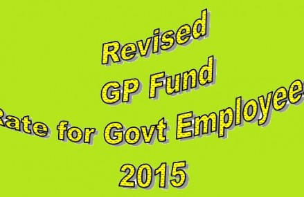 Finance Division Issued Revised GPF Rate 2015