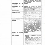 HED CTI Notitfication - Fiiling of Vacant Teaching Posts in Punjab Colleges 2