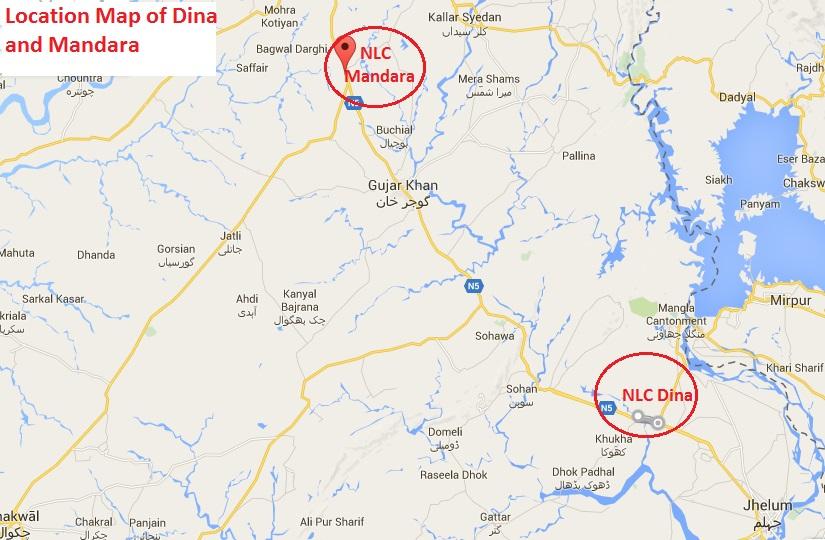 NLC Dina, NLC Mandara Location Map
