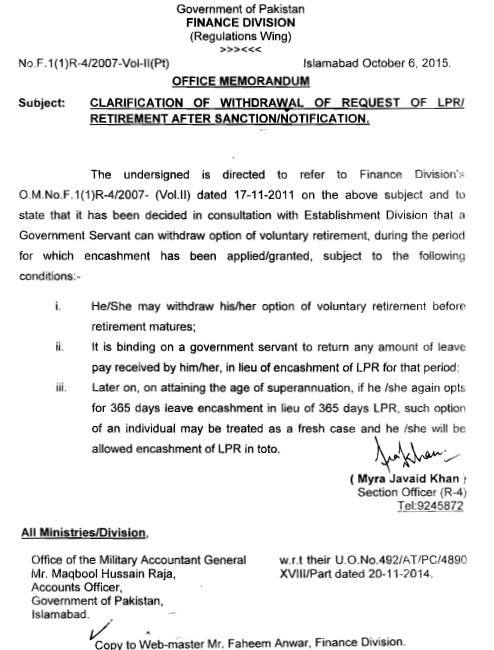 Letter Before Action >> Clarification Regarding Withdrawal of LPR Sanction ...