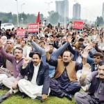 IESCO Employees Dharan in Islamabad against Privatization of WAPDA