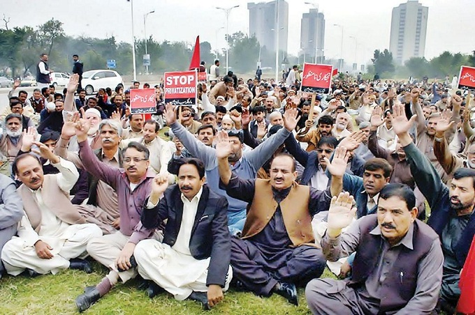 IESCO Employees Dharan in Islamabad against Privatization of WAPDA