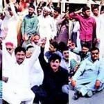 WAPDA Hydro Union Protest in Multan on 5 Nov 2015
