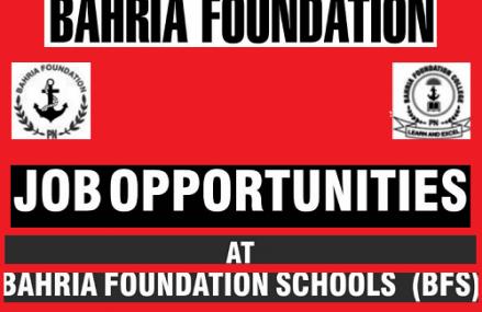 Jobs in Bahria Foundation Schools (BFS)