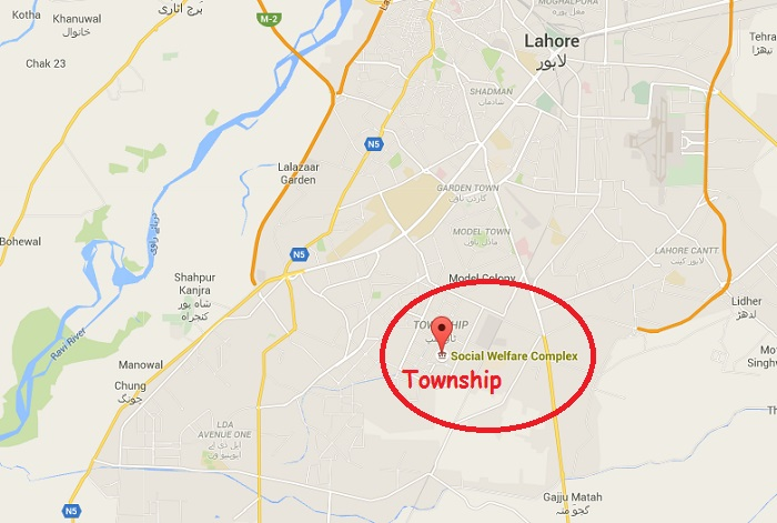 Location Map - Social Welfare Training Institute Township Lahore