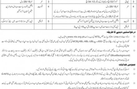 Police Constables Jobs in Azad Kashmir Through NTS