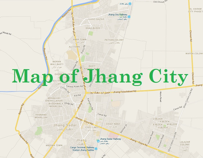 Map of Jhang City - University of Jhang Campus in College of Commerce Jhang