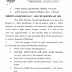 Punjab Educators Recruitment Policy Page 1