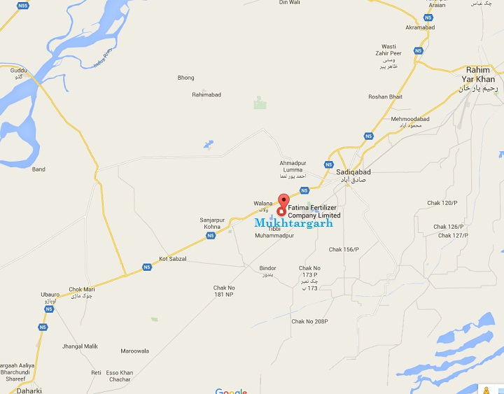 Fatima Group Trust Hospital Mukhtargarh Sadiqabad Rahim Yar Khan - Location Map