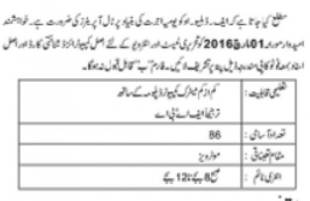 Jobs in FWO for Motorways Toll Plaza Operator