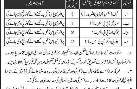 Jobs in Military College of Engineering Risalpur Cantt