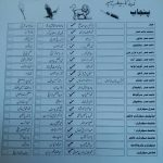 PPLA Election 2016 - Sample Ballot Paper