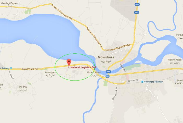 NLC Training Center Amangarh Nowshera - Location Map