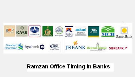 Ramzan Office Timing in Banks