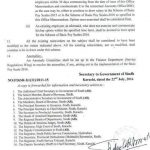 Sindh Govt Notification Revised Pay Scales and Allowances 2016 e