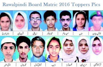 Matric Top Position Holder in BISE Rawalpindi 2016