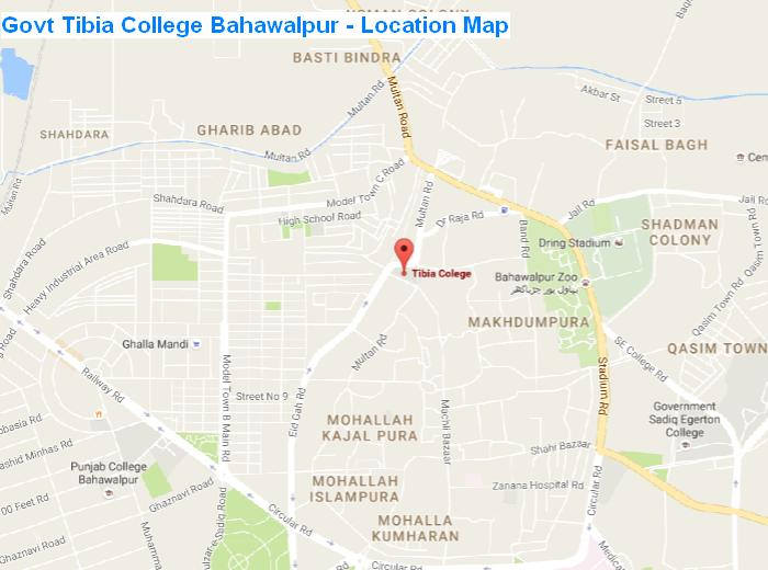 Govt Tibia College Bahawalpur - Location Map