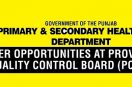 Jobs in PQCB Punjab Primary and Secondary Healthcare Department