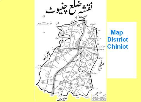 Detail Map District Chiniot