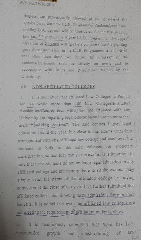 LLB Degree Program Case Lahore High Court Orders Dated 19-09-2016 (Page 2/4)