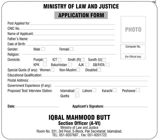 Application-Form-Law-and-Justice-Division-Govt-of-stan Job Application Form For Government Of Sindh on government job openings, finance application form, medical application form, government articles, government job application process, government order form, doctor application form, government job vacancies, government events, government job application cover letter, security application form, government training, government newsletter, business application form, government benefits, teaching application form, driver application form, health care application form, government employment, bank application form,