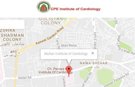 Admission in Multan Cardiology Institute CPEIC for BSc Cardiac Perfusion Session 2016-2017