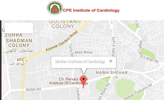 CPE-Institute-of-Cariology-Multan-Logo-and-Location-Map