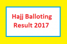 Govt Hajj Scheme Balloting/Draw Result 2017