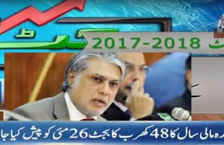 Pakistani Annual Budget Presentation on Dated 26 May 2017