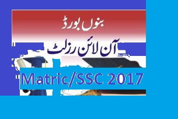 BISE Bannu Board Annual Result Matric/SSC 2017 Announced