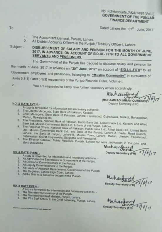 Punjab government budget -19 date