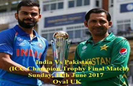 Pak Vs India Final – Pakistan Wins ICT Cup 2017