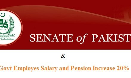 Senate Recommended 20 Percent Increase in Pays and Pension of Govt Employees in Budget 2017-18