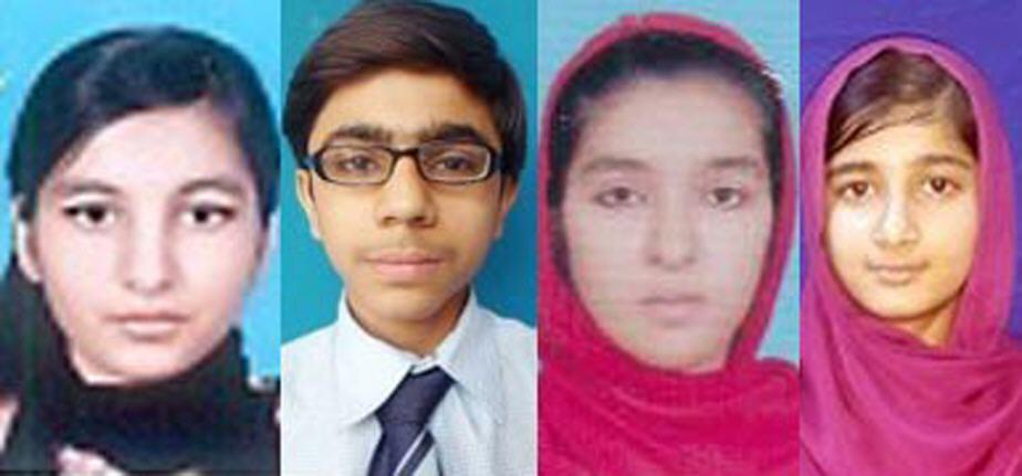 BISE Multan Board Toppers Matric 2017 - Wajeeha Younis, Kashaf, Fahad Nadeem and Fatima Munir Pics