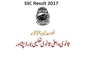BISE Peshawar Board SSC Result 2017