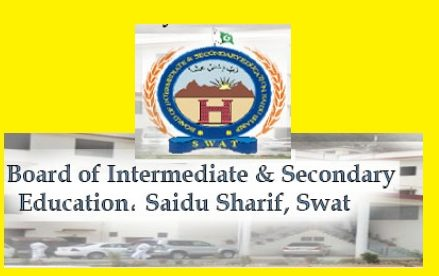 BISE Swat Board Inter/HSSC Result Gazette 2017