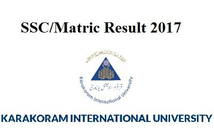 KIU GB Board SSC/Matric Result 2017 on 14th July (Friday)