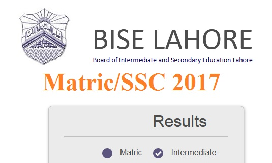 Lahore Board Matric-SSC Result Top Position Holders (Toppers) 2017