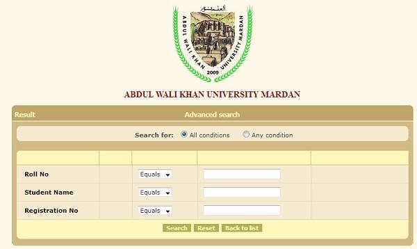 AWKUM - Abdul Wali Khan University Mardan - BA BSc Result 2017
