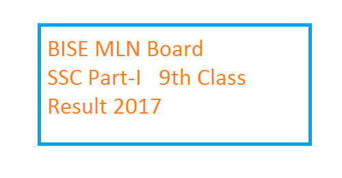 BISE MLN Board SSC Part-I 9th Class Result 2017 b