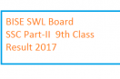 BISE Sahiwal Board 9th Class Result 2017 – SSC Part-I Position Holders