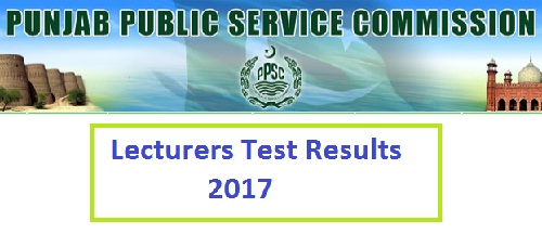PPSC Punjab Lecturers Written Test Result Online