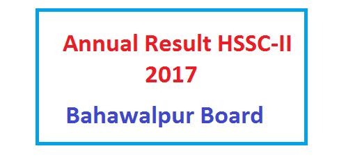 BISE Bahawalpur Board HSSC Inter Exam Result 2017 Online