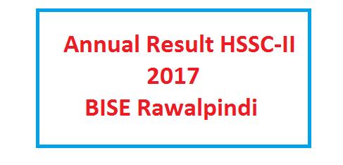 BISE RWP Board HSSC Inter Exam Result 2017 Online