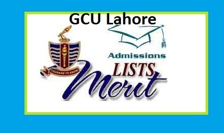 GC University Lahore Announced Merit List 2017 for BA,BSc,BFA and B.Com