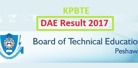 KPBTE Peshawar DAE Annual Result 2017 Online – First, Second, Third Years