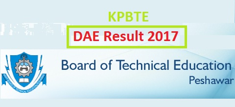 KPBTE Peshawar DAE Annual Result 2017 Online – First, Second, Third