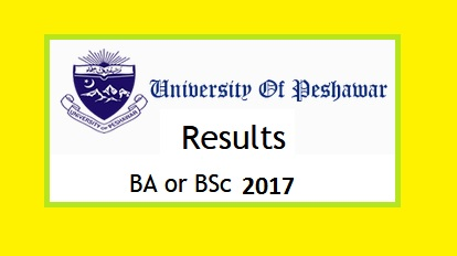 Peshawar University BA, BSc Annual Result Online for Download