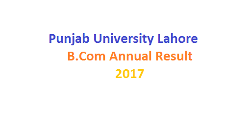 Punjab University Lahore B Com Annual Result 2017