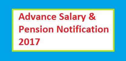Punjab Govt Employees advance salary notification Nov 2017